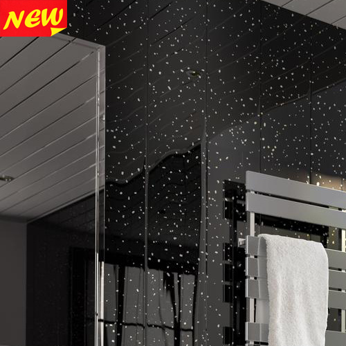 lshower panelswall claddingpvc panels black sparkle