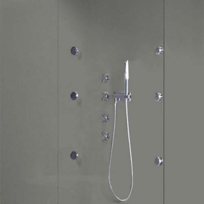 grey pearl shower wall panels kit 1000mm x 24m x 10mm 2